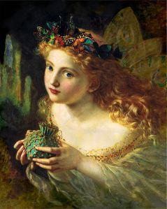 Take the Fair Face of Woman, and Gently Suspending, With Butterflies, Flowers, and Jewels Attending, Thus Your Fairy is Made of Most Beautiful Things by Sophie Gengembre Anderson