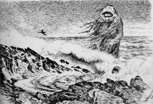 The Sea Troll by Theodor Kittelsen