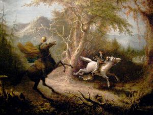 The Headless Horseman Pursuing Ichabod Crane by John Quidor
