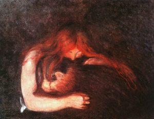 The Vampire by Edvard Munch