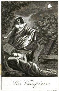 1820 engraving from the book Histoire des vampires et des spectres malfaisans: avec un examen du vampirisme