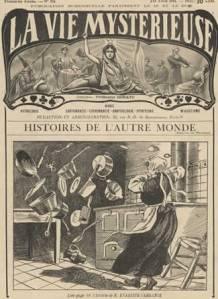 Illustration of Poltergeist activity from the French magazine La Vie Mysterieuse (1911)
