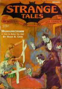 Cover of Strange Tales of Mystery and Terror (January 1933)