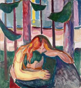 Edvard Munch, Vampire in the Forest (1916-18)