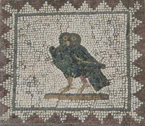 Roman owl mosaic, Itálica, Spain