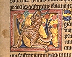 Medieval depiction of a satyr from the Aberdeen Bestiary