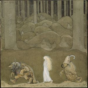 John_Bauer, The Princess and the Trolls (1915)