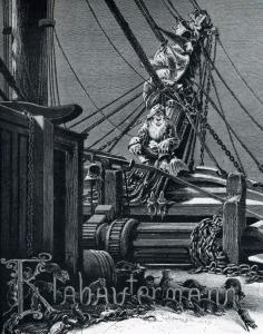 Illustration of a Klabautermann from Buch Zur See (1885)