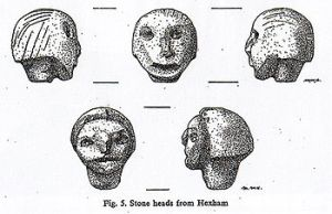 Drawings of the Hexham Heads by Mary Hurrell
