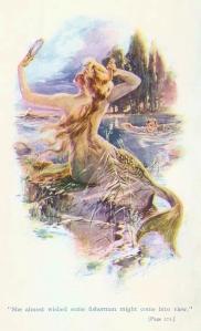 Mermaid illustration by Edmund Frederick (1910)