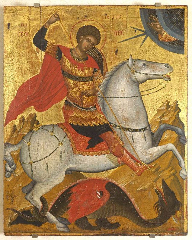 15th century Cretan icon of St. George