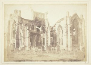 A photograph of Melrose Abbey by Henry Fox Talbot (1844)