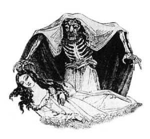 Illustration from Varney the Vampire (1847)