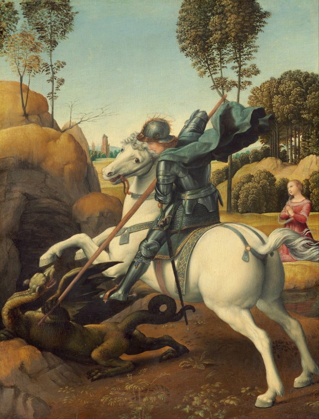 Saint George and the Dragon by Raphael